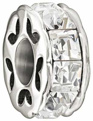 Chamilia Sterling Silver w Stone - Spark - Crystal 2025-0963