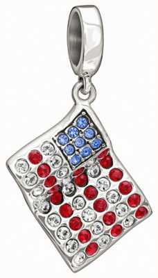 Chamilia Sterling Silver with Stone - American Flag 2025-0965