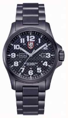 Luminox Mens Black Ion-Plated Steel Carbon-Fiber Effect Watch XL.1922