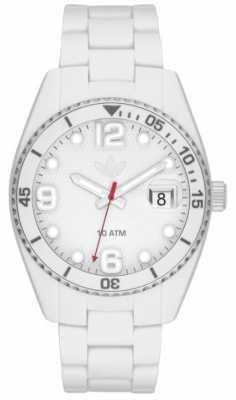 adidas Originals Unisex Brisbane White Rubber Strap Watch ADH6158