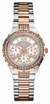 Guess Womens' Viva Two Tone Stainless Stee/ Rose-Gold Watch W0111L4