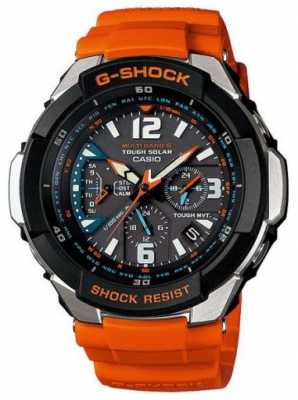 Casio Men's Aviator Orange Strap Watch GW-3000M-4AER