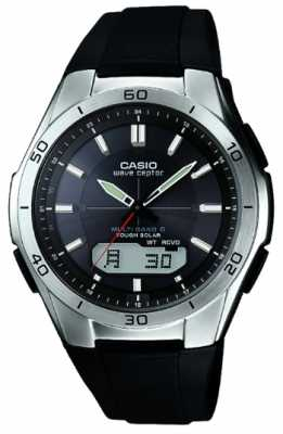 Casio Men's Wave Ceptor Black Rubber Strap Stainless-Steel Watch WVA-M640-1AER