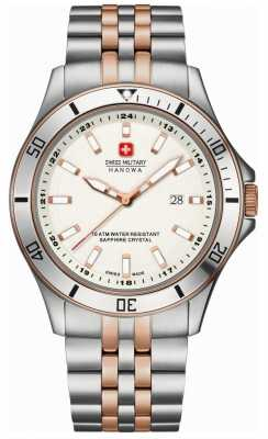Swiss Military Hanowa Men's Flagship Stainless Steel Rose Gold White Dial Watch 6-5161.7.12.001