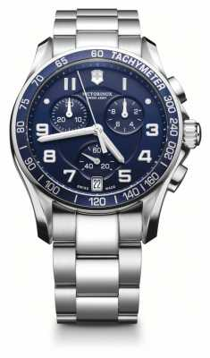 Victorinox Swiss Army Mens Classic Stainless Steel Blue Dial Watch 241497
