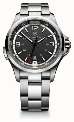 Victorinox Swiss Army Mens Night Vision Stainless Steel Black Dial Watch 241569