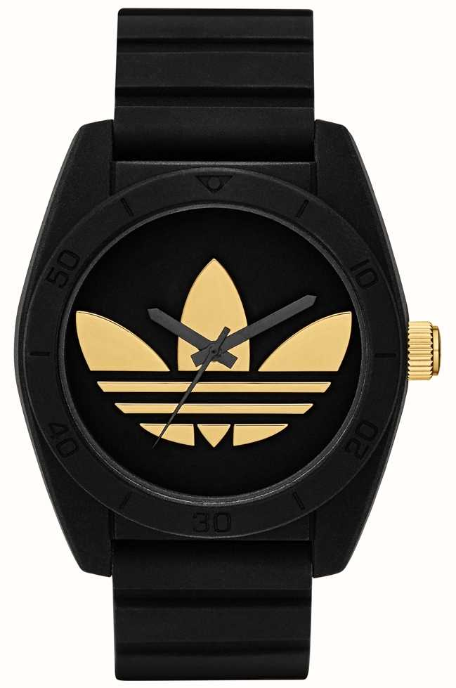 a4497f74c762 adidas Originals Santiago Black & Gold Watch