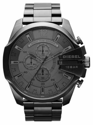 Diesel Men's Mega Chief Black Steel Watch DZ4282