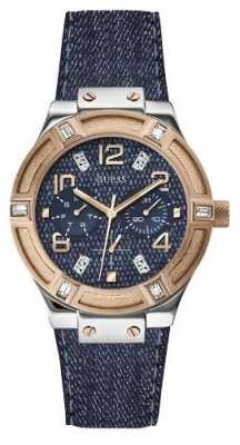 Guess Womens' Jet Setter Denim Watch W0289L1