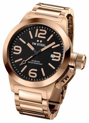 TW Steel Unisex Canteen Rose Gold Black Dial Watch TW0311