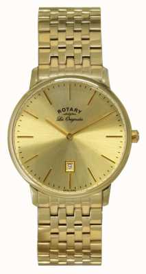 Rotary Mens Kensington Les Originales Gold Plate Watch GB90052/03