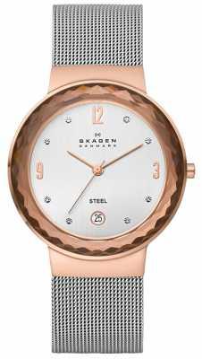 Skagen Ladies Klassik Two Tone Mesh Watch 456LRS