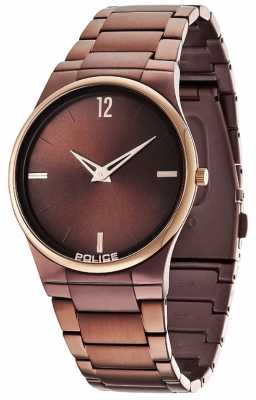Police Men's Horizon Brown Gold Accent Watch 12744JRSBZR/12M