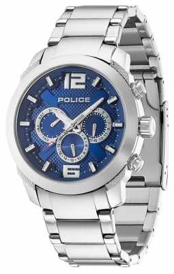 Police Men's Triumph Stainless Steel Blue Dial Watch 13934JS/03M