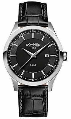 Roamer Mens R-Line men's stainless steel black strap watch 943856415509