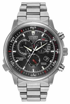 Citizen Men's Nighthawk Stainless Steel Radio Controlled Watch AT4110-55E