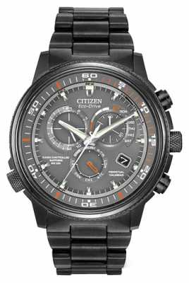 Citizen Men's Nighthawk Black Ion-Plated Steel Watch AT4117-56H