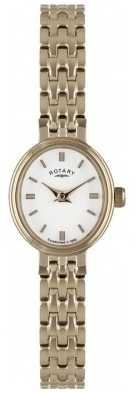 Rotary Womens Gold Plate, Oval Dial Watch LB02085/02