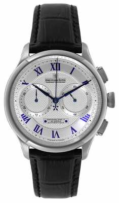 Dreyfuss Mens Silver Chrono Exhibition Watch DGS00094/21