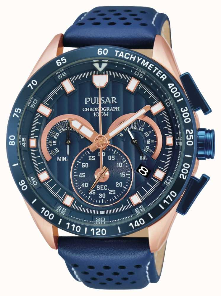 Pulsar Mens Trendy Sports Chronograph Pu2082x1 First Class Watches