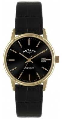 Rotary Mens Avenger Vintage Rose Gold Strap Watch GS02877/04
