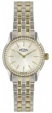 Rotary Womens Verona, Two Tone, Crystal LB02571/03L