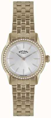 Rotary Womens Verona, Gold Plate, Crystal Watch LB02573/01L
