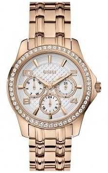 Guess Womens' Mini Exec Rose Gold Watch W0403L3