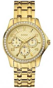 Guess Womens' Mini Exec Gold Watch W0403L2