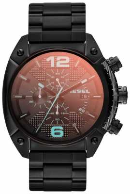 Diesel Men's Overflow Black Steel Watch DZ4316