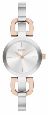 DKNY Womens' Two Tone Bangle Watch NY2137