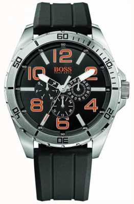 Hugo Boss Orange Mens Stainless Steel Black Rubber Strap Multi Dial Watch 1512945