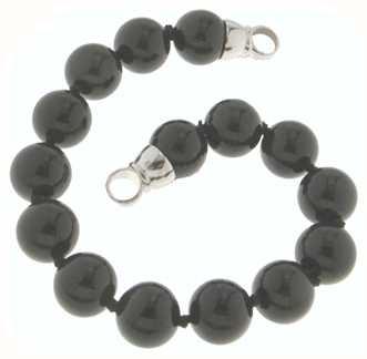 MY iMenso Onyx Bracelet + Endcap (925/Rhod-Plated) 10mm/19cm 27-0511-19