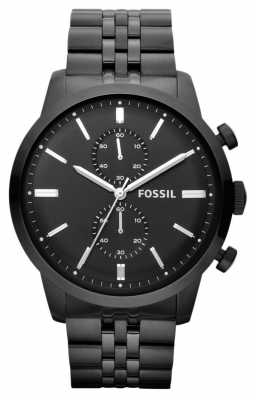 Fossil Mens Townsman Chronograph Black Watch FS4787
