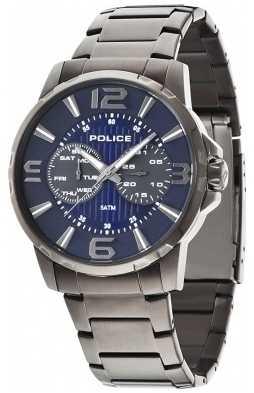 Police Men's Black IP Steel Visionary Watch 14100JSU/03M