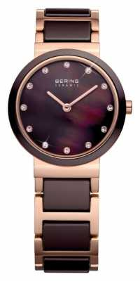 Bering Time Ladies Brown and Rose 10725-765