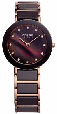 Bering Time Ladies Brown and Rose Gold 11429-765