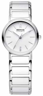 Bering Time Ladies White and Silver Ceramic 30226-754