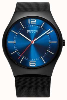 Bering Time Mens Ceramic Mesh Band Watch 32039-447