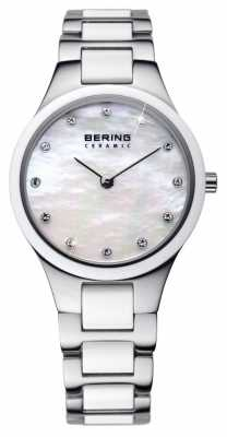 Bering Time Ladies Ceramic Silver Watch 32327-701