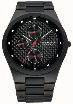 Bering Mens Ceramic Black Carbon Fibre Multi Dial Watch 32339-782