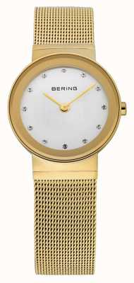 Bering Time Ladies Gold Mesh Watch 10126-334