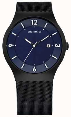 Bering Mens Solar Powered | Black Ceramic Mesh Strap | 14440-227
