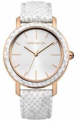 Karen Millen Ladies' Rose Gold Watch KM137W