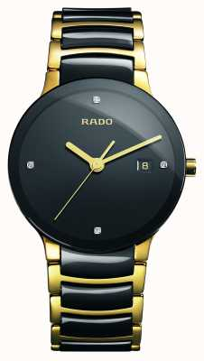 RADO Centrix Diamonds High-Tech Ceramic Black Dial Watch R30929712