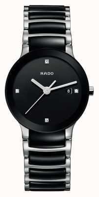Rado Centrix Diamonds High-Tech Ceramic Black Dial Watch R30935712