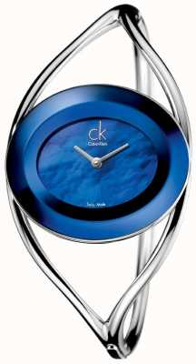 Calvin Klein Womens Delight, Blue Mother of Pearl (medium) K1A2481E