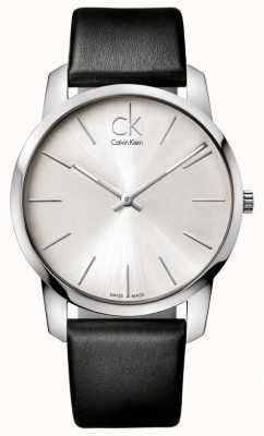 Calvin Klein Mens City Watch Minimalist Black Strap K2G211C6