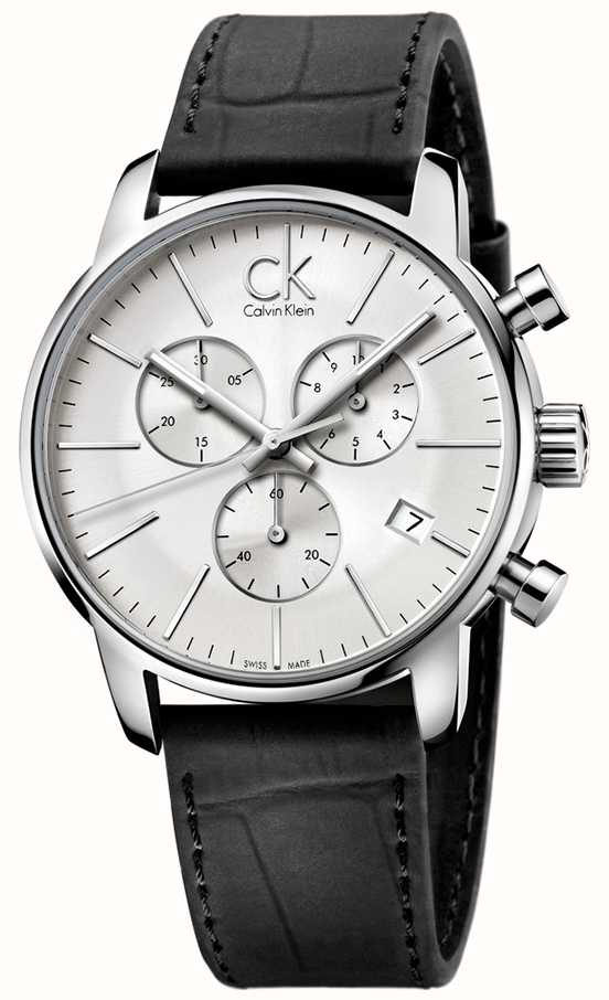 eb3af4329 Calvin Klein Mens Stainless Steel & Black Silver Dial City ...