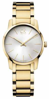 Calvin Klein Ladies City Yellow Gold PVD Watch K2G23546